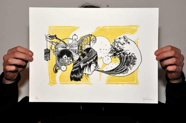 blow screenprint yellow