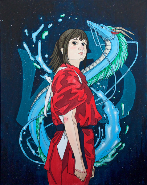 spirited away painting